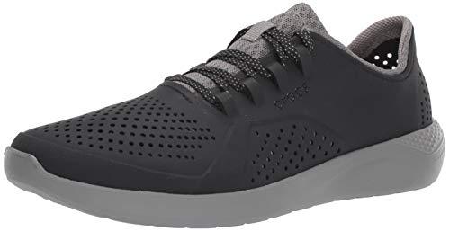Crocs Men's LiteRide Pacer Sneaker, Black/Smoke