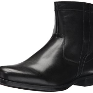 Florsheim Men's Medfield Plain Toe Zip Boot Fashion, Black