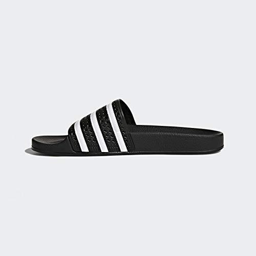 adidas Originals Men's Adilette Slide Sandals, White/Black