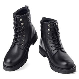 GM GOLAIMAN Mens Motorcycle TAFT Dress Boots - Lace Up Zip Boots