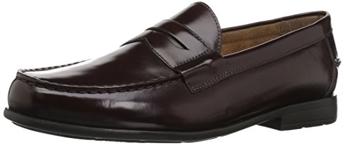 Nunn Bush Men Drexel Penny Loafer with KORE Comfort Technology, Burgundy, 10.5 Wide US