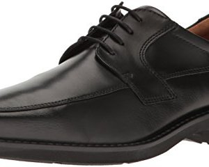 ECCO Men's Seattle Apron Toe Tie Oxford, Black/Black