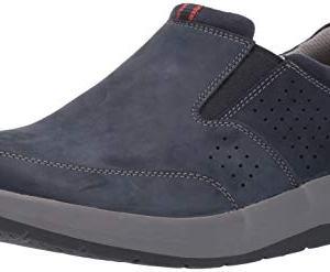 CLARKS Men's Shoda Free Waterproof Slip-on Sneaker, Navy Nubuck