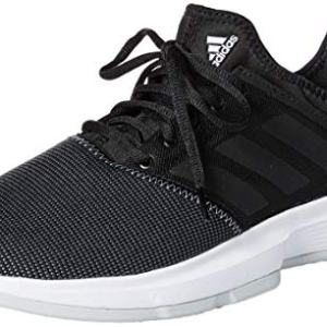 adidas Men's GameCourt Wide Tennis Shoe, Black/Light Grey Heather