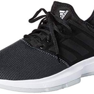 adidas Men's GameCourt Wide Tennis Shoe, Black/Light Grey Heather