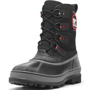 Sorel Men's Caribou Extreme Snow Boot,Black/Shale