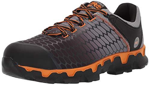 Timberland PRO Men's Powertrain Sport Alloy Toe EH Puncture Resistant Industrial Boot Gray/Orange 9.5 W US