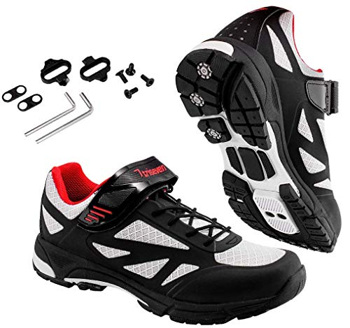 TriSeven Mountain MTB Shoes - Lightweight, Breathable Synthetic Leather
