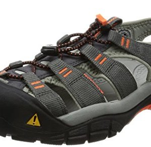 KEEN Men's Newport H2 Hiking Shoe, Magnet/Nasturtium, 12 M US
