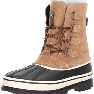 Skechers USA Men's Revine Hopkin Snow Boot,Black/Khaki