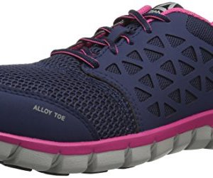 Reebok Women's Sublite Cushion Work Boot, Navy Pink
