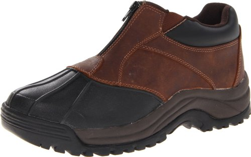 Propet Men's Blizzard Ankle Zip Boot,Brown/Black