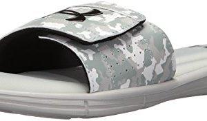 Under Armour Men's Ignite Deception V Slide Sandal, Aluminum