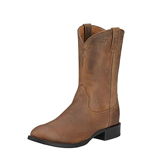 Ariat Men's Heritage Roper Western Cowboy Boot, Distressed Brown