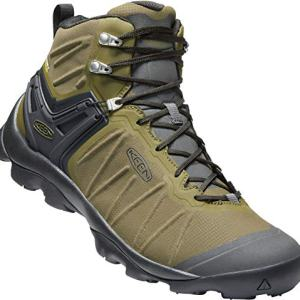 KEEN - Men's Venture Mid Waterproof Hiking Boot, Dark Olive/Raven, 10 US