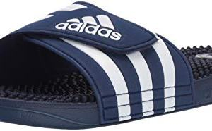 adidas Adissage, White/Dark Blue