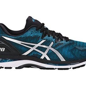 ASICS Men's Gel-Nimbus 20 Running Shoe, Island Blue/White/Black, 11 Medium US