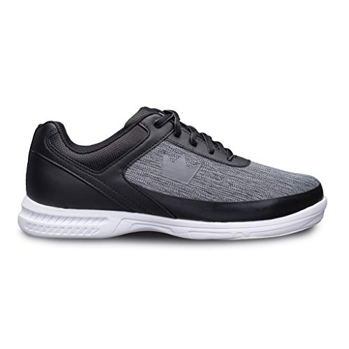 Brunswick Bowling Products Mens Frenzy Static Bowling Shoes- Wideblack/Grey 12 E US, Black/Gray, 12W