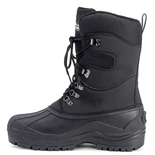 Polar Mens Snow Hiking Mucker Duck Grafters Waterproof Saftey Thermal Boots Polar Mens Snow Hiking Mucker Duck Grafters Waterproof Saftey Thermal Boots - Black - US10/EU43 - YC0445.