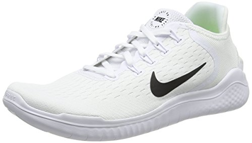 Nike Men's Free Running Shoe White/Black Size