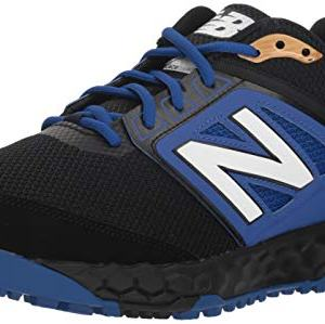 New Balance Men's Turf Baseball Shoe, Black/Blue