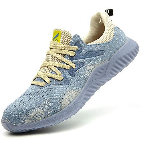 JACKSHIBO Safety Work Shoes for Men Women Steel Toe Indestructible Shoes