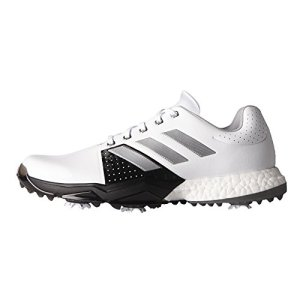 adidas Men's Adipower Boost 3 WD Golf Shoe, White/Silver Metallic/Black, 10.5 W US