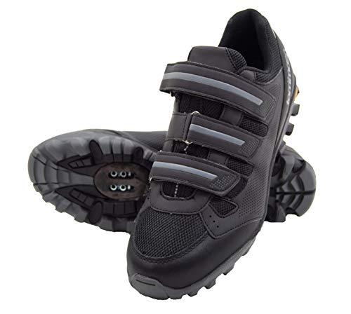 tommaso Vertice 100 Men's All Mountain Vibram Sole Mountain Bike Shoes - 45 Black/Grey