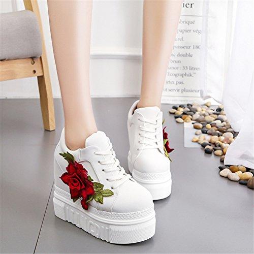 ACE SHOCK Women Fashion Platform Sneakers Wide Width High ❤ Shoes SIZE CHART: