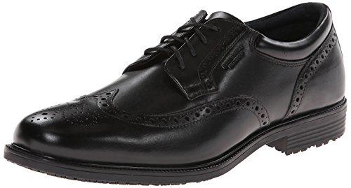 Rockport Men's LTP Wing Tip Black WP Leather Oxford