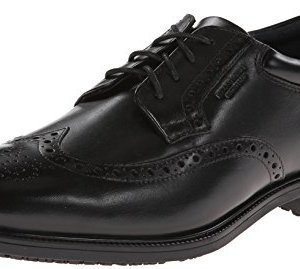 Rockport Men's LTP Wing Tip Black WP Leather Oxford