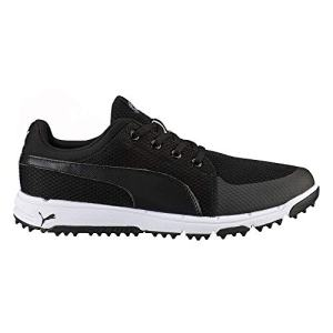 PUMA Men's Grip Sport Tech Spikeless Mesh Golf Shoe, 10 Medium Black