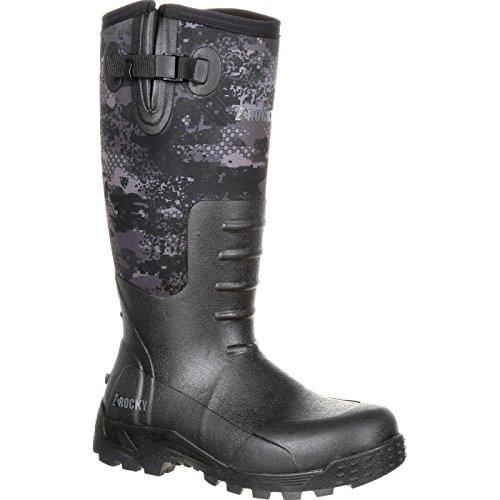 ROCKY Men's Sport Pro Rubber Waterproof Outdoor Boot Knee High, Venator Camo, 11 M US