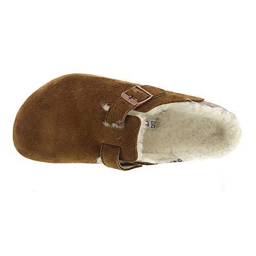 Birkenstock Unisex Boston Shearling Clog, Mink/Natural Birkenstock Unisex Boston Shearling Clog, Mink/Natural, Size 41 EU (8-8.5 M US Men/10-10.5 M US Women).