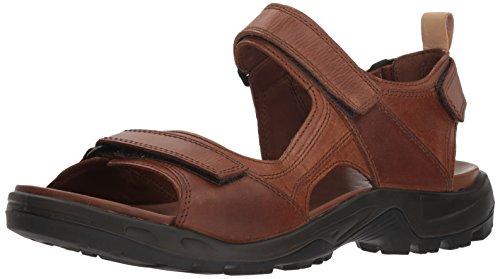 ECCO Men's Yucatan outdoor offroad hiking sandal, cocoa brown/powder