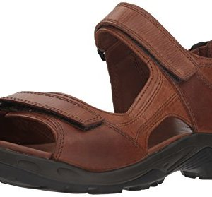 ECCO Men's Yucatan outdoor offroad hiking sandal, cocoa brown/powder