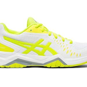 ASICS Women's Gel-Challenger Court Shoes, 9M, White/Safety Yellow