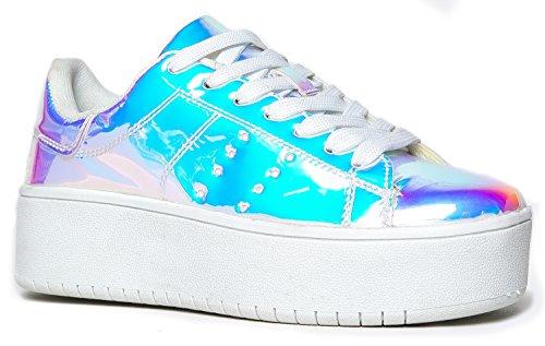 Hero Platform Lace Up Sneaker, Rainbow