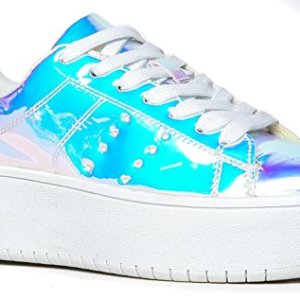 Hero Platform Lace Up Sneaker, Rainbow
