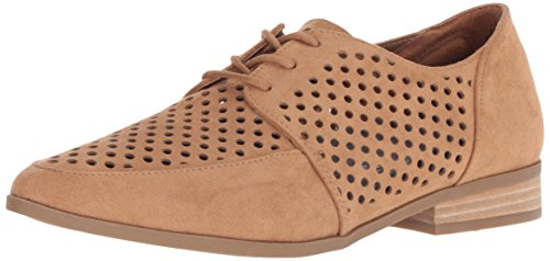 Dr. Scholl's Shoes Women's Equal Chop Oxford, Saddle Microfiber, 10 M US