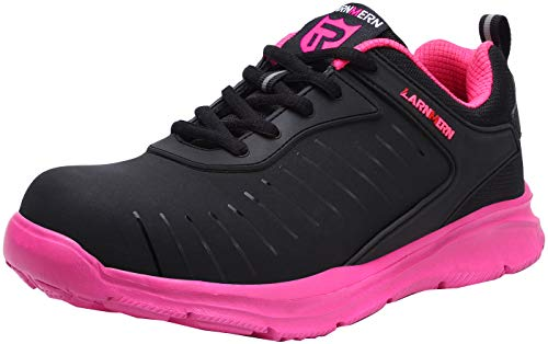 LARNMERN Safety Indestructible Work Shoes Women Steel Toe Shoes