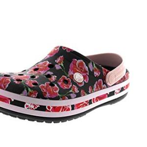 Crocs Classic Lined Graphic II Clog, Floral/Black