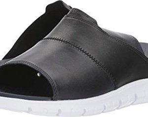 Cole Haan Men's Zerogrand Slide Sandal, Black LTHR/Marine Blue/Optic White, 8