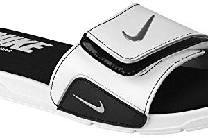 Nike Comfort Slide Mens Active Slide Sandals White/Metallic Silver/Black