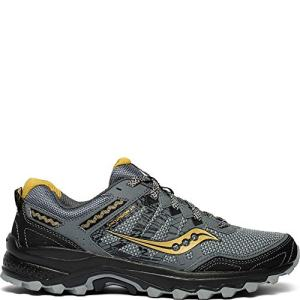 Saucony Men's Grid Excursion Trail Running Shoe, Silver/Gold