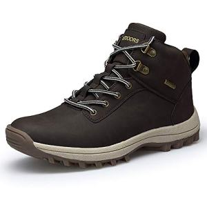 VANDIMI Hiking Boots for Men Waterproof Lace Up Ankle Booties