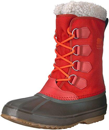 Sorel Men's Pac Nylon Snow Boot, Rust red, Cordovan