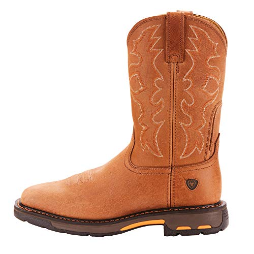 Ariat Men's Workhog Wide Square Toe Work Boot, Rugged Bark Ariat Men's Workhog Wide Square Toe Work Boot, Rugged Bark, 12 2E US.
