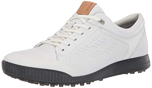 ECCO Men's Street Retro Hydromax Golf Shoe, Bright White