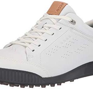 ECCO Men's Street Retro Hydromax Golf Shoe, Bright White